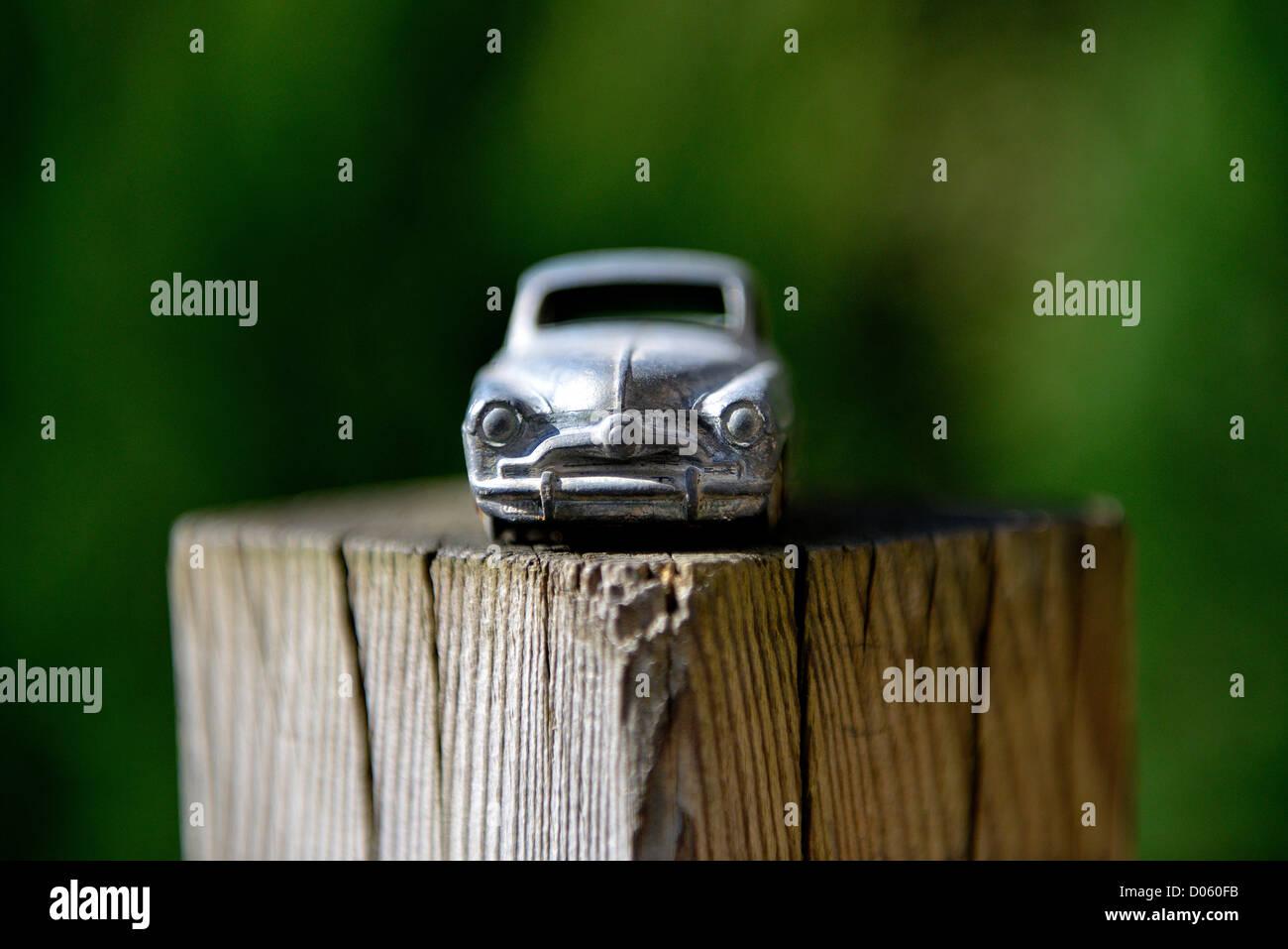 Meccano Toy Stock Photos Images Alamy 1951 Simca Wiring Diagram Car On A Wooden Garden Post 9 Aronde 24u