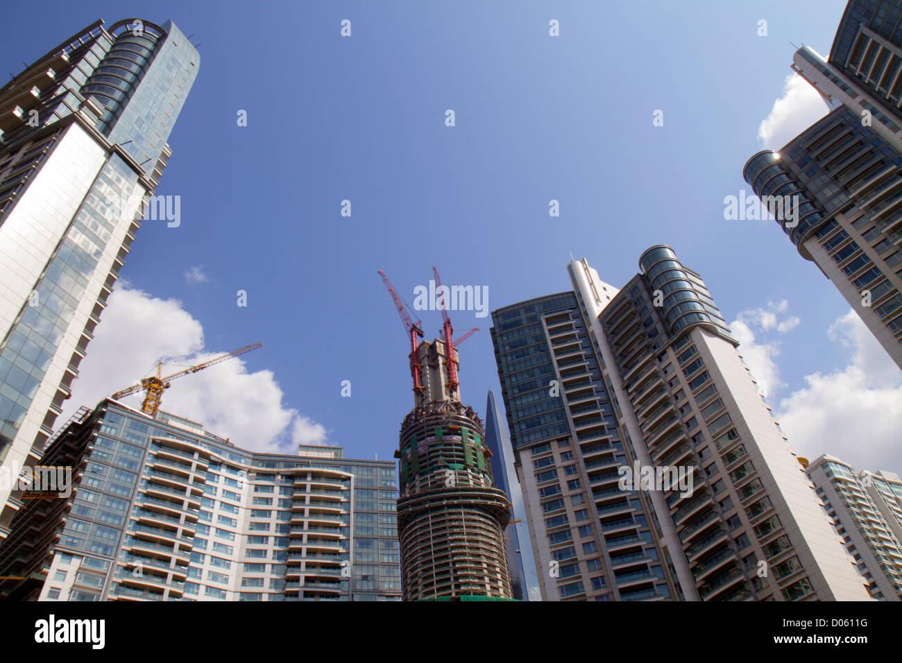 Shanghai China Pudong Xin Quinn Lujiazui Financial District Fucheng Road Zhongliang Seascape Yihao high rise residential - Stock Image