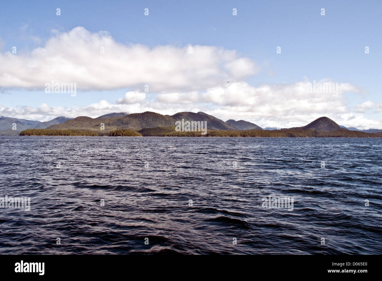A view of Cunningham Island along British Columbia's Pacific Central Coast, Canada. Stock Photo