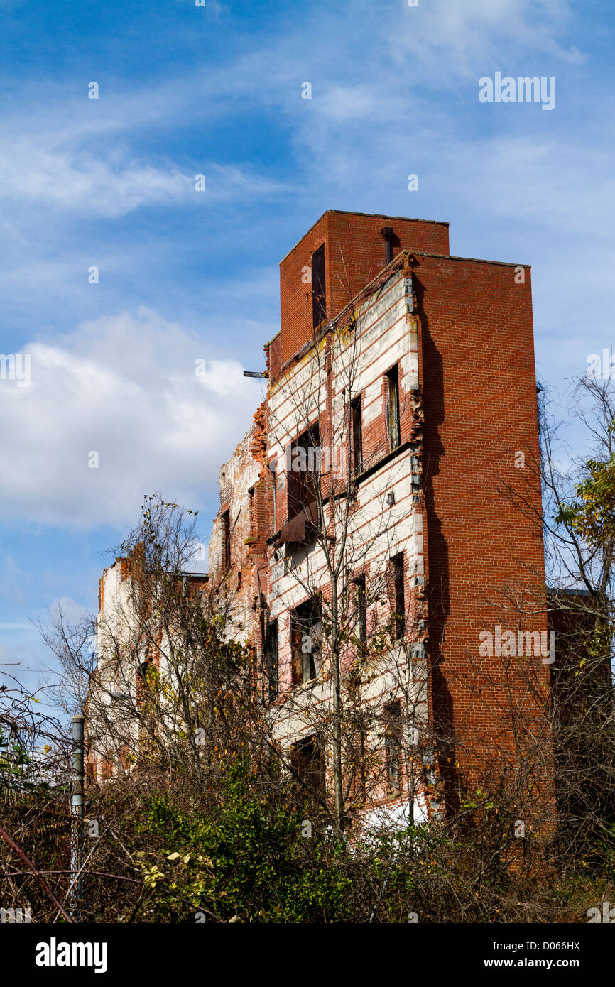 Ruins Of Old Furniture Factory In Lexington NC   Stock Image