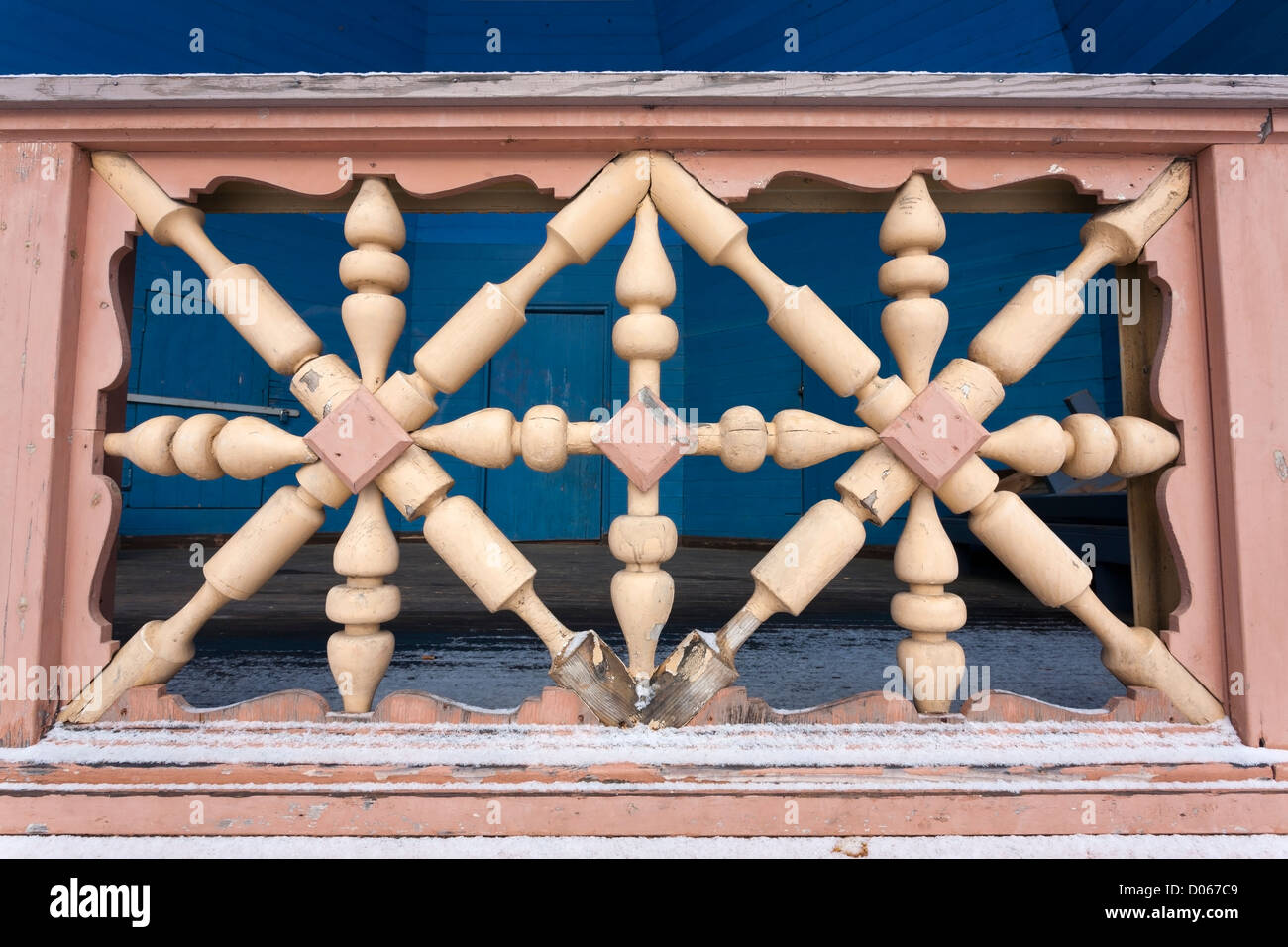 Handrail detail, Mikkeli Finland - Stock Image