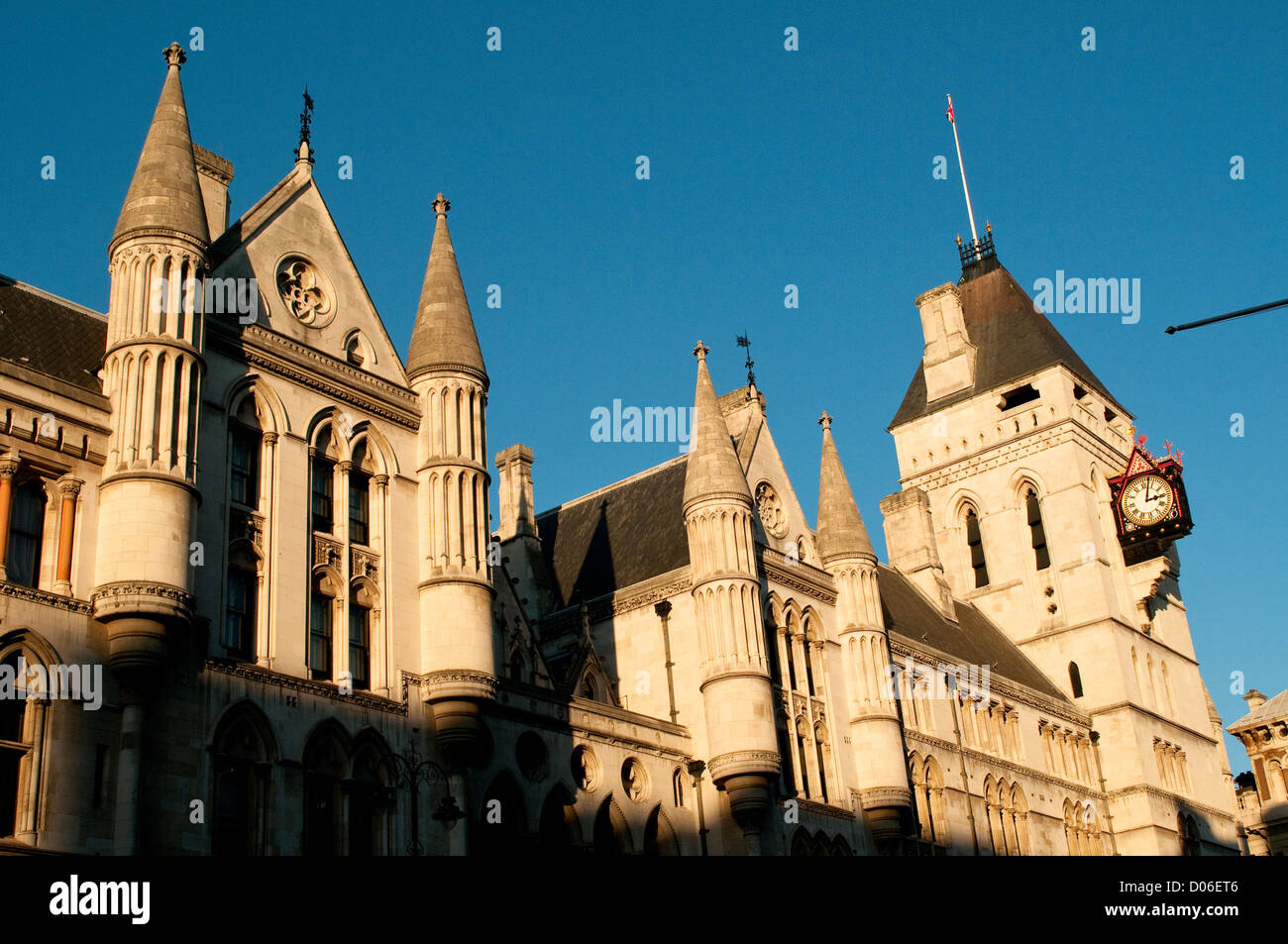 Royal Courts of Justice or Law Courts, London, UK - Stock Image