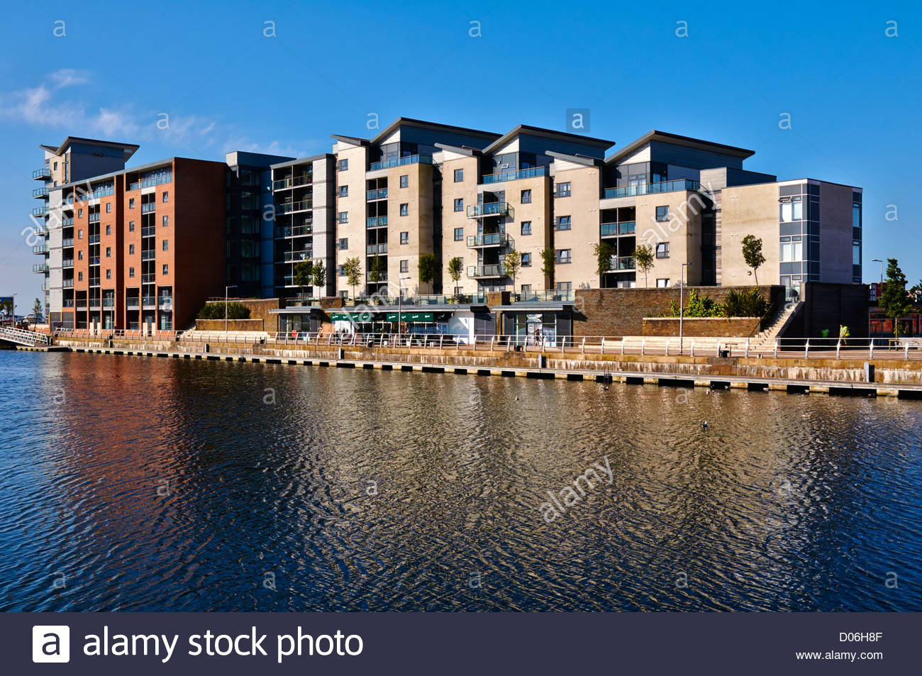 High Rise Flats And Apartments Overlooking Swansea Marina Sa1 In South Wales