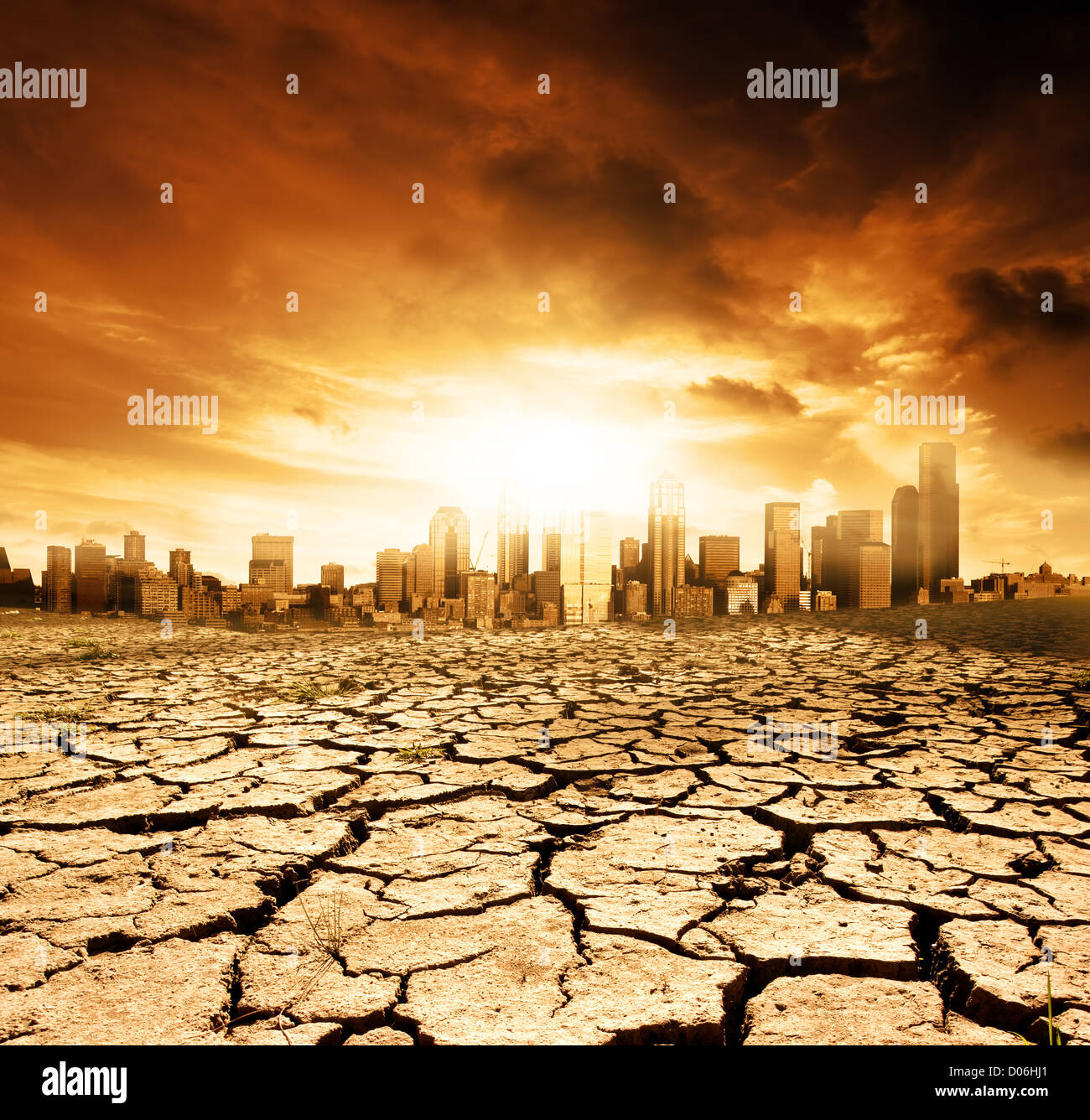 Global Warming Concept Image - Stock Image