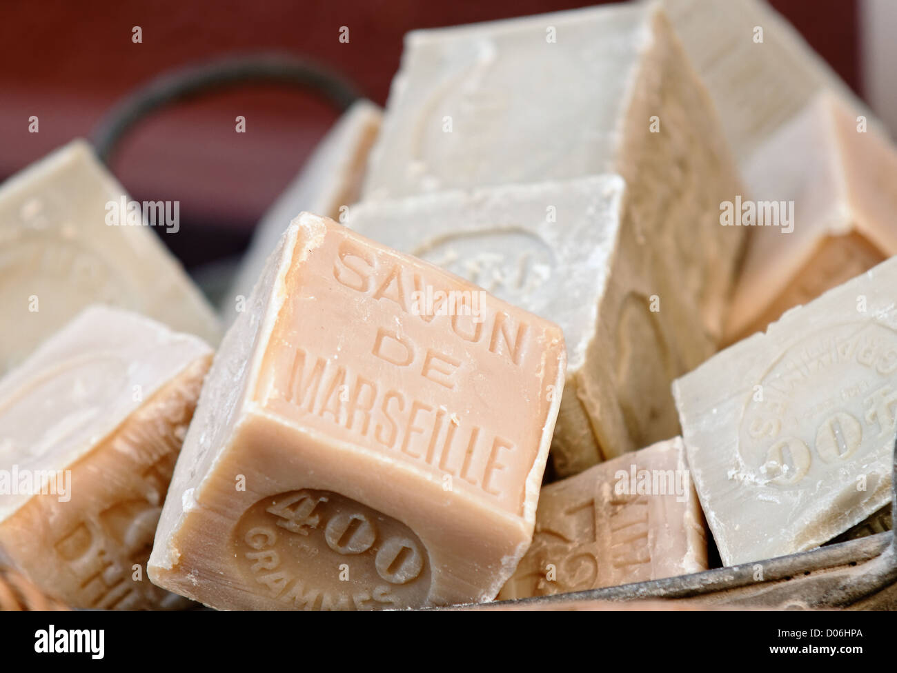 olive oil soaps from Marseille - Stock Image