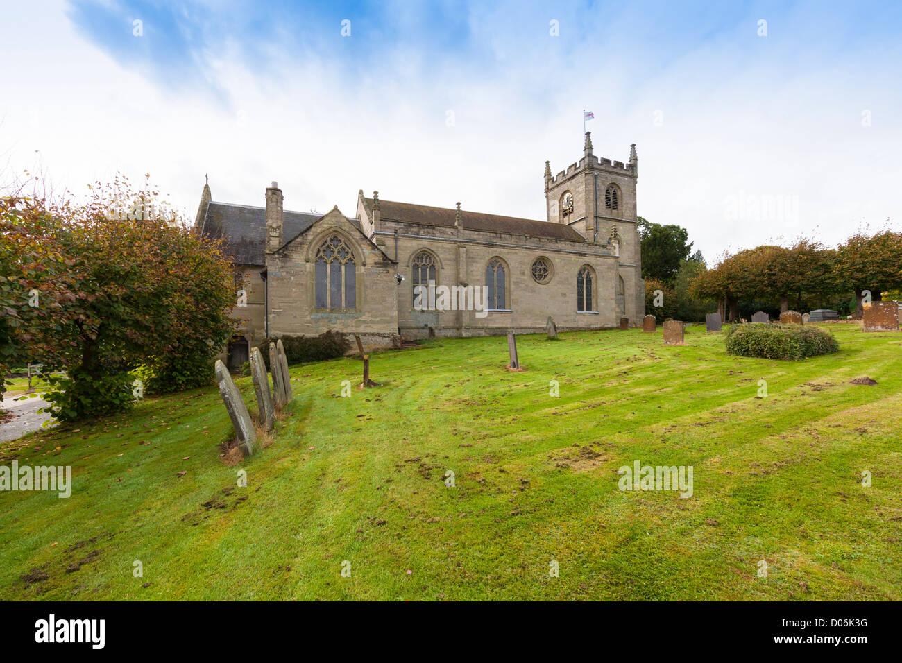Leek Wooton church. Warwickshire. - Stock Image