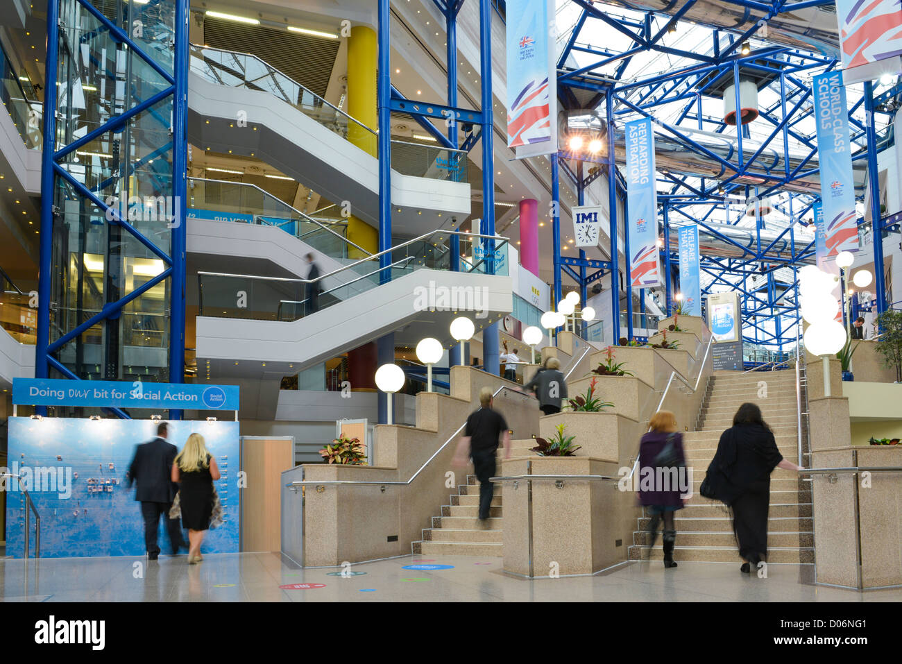 The Conservative Party Conference, Birmingham. At the ICC and Symphony Hall. - Stock Image
