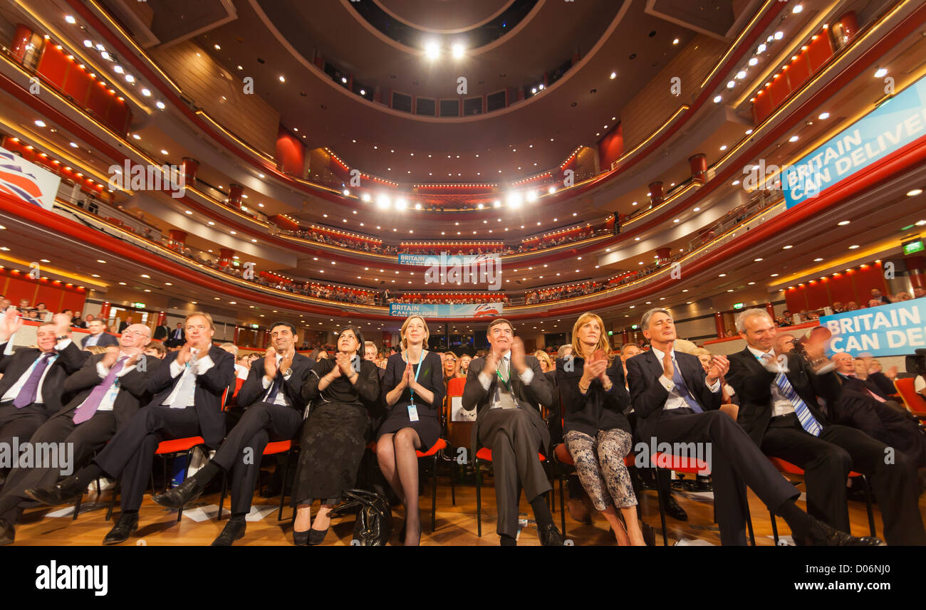 The Conservative Party Conference, Birmingham. At the Symphony Hall. - Stock Image