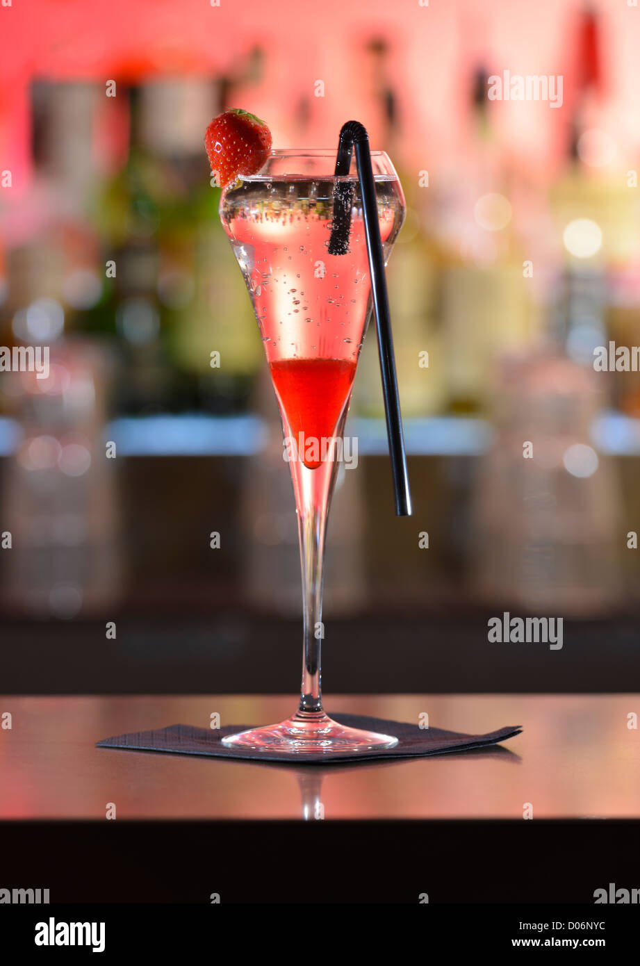 Cocktail on a bar - Stock Image