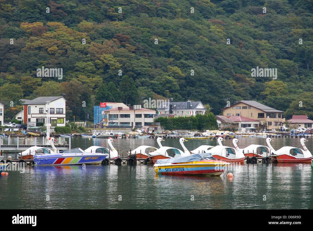Japan, Honshu Island, Kanagawa Prefecture, Fuji Hakone National Park, Lake Ashi - Stock Image