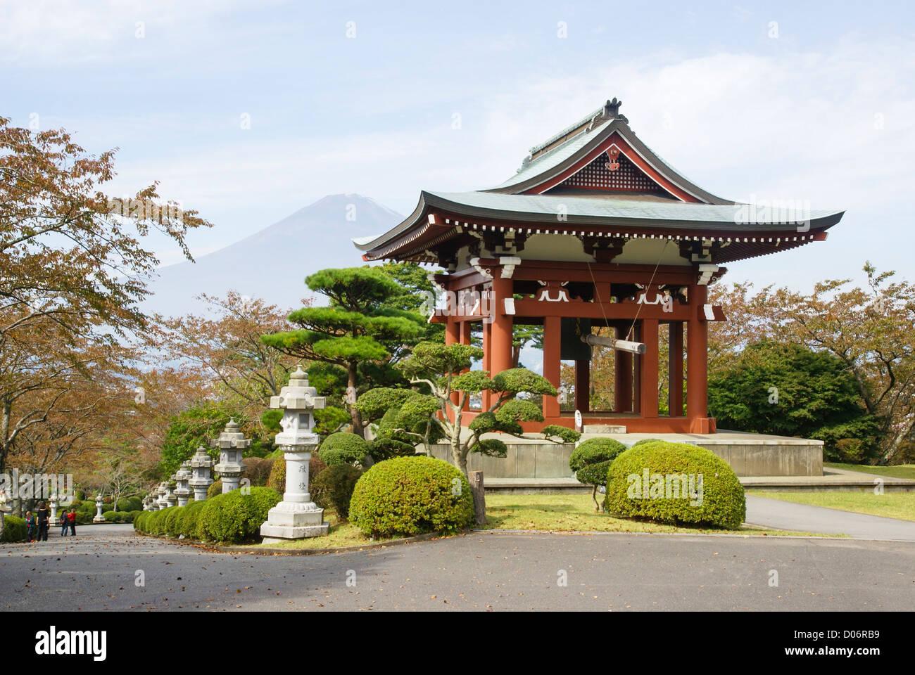 Japan, Honshu Island, Kanagawa Prefecture, Fuji Hakone National Park, Japanese garden - Stock Image