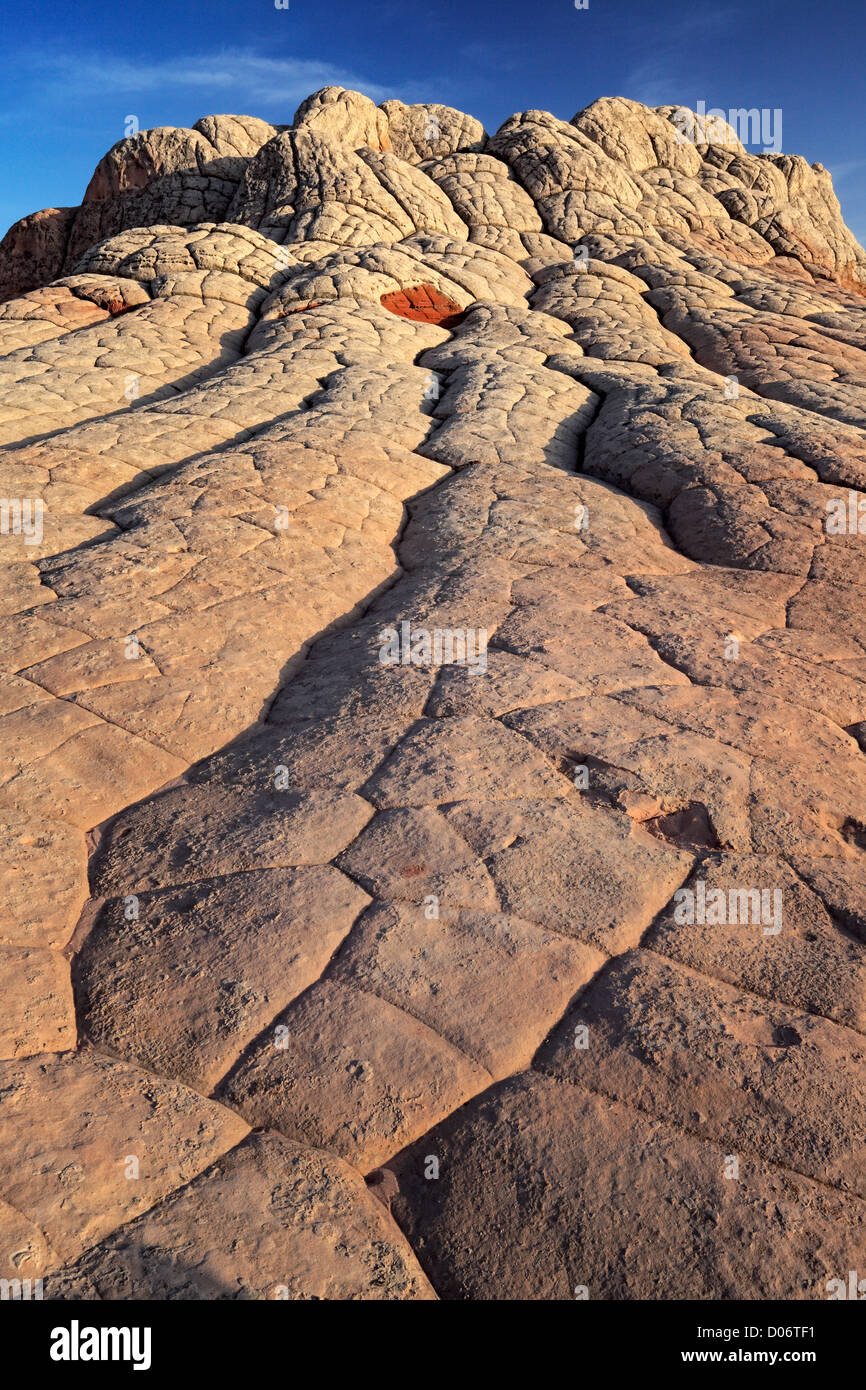 Rock formations in the White Pocket unit of the Vermillion Cliffs National Monument - Stock Image
