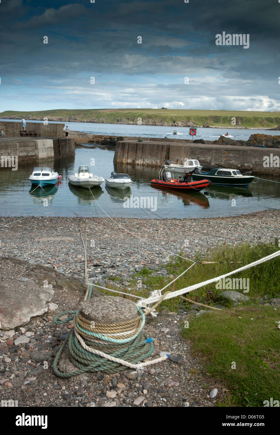 Sandend Harbour on the North East coast of Moray and Aberdeenshire.   SCO 8457 - Stock Image