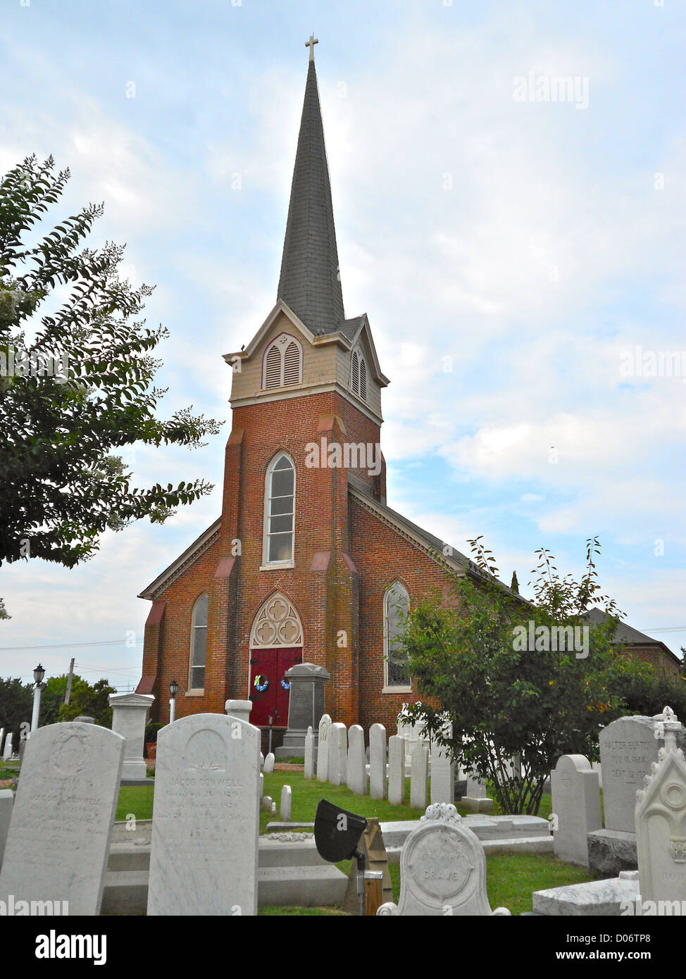St Peter's Episcopal Church in Lewes, Delaware - Stock Image