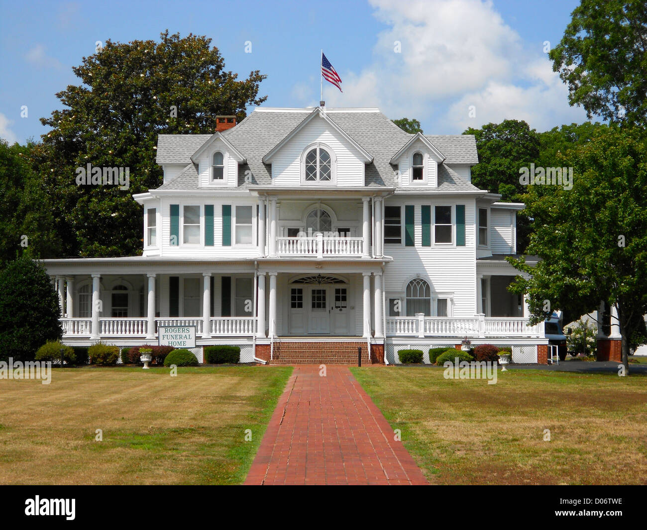 Grier House on the NRHP since January 7, 1983. At 301 Lakeview Ave. Milford, Sussex County, Delaware. - Stock Image