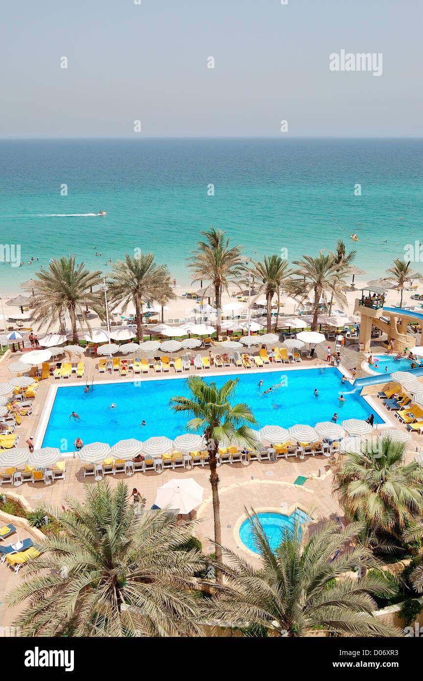 Sharjah beach stock photos sharjah beach stock images - Swimming pool construction companies in uae ...