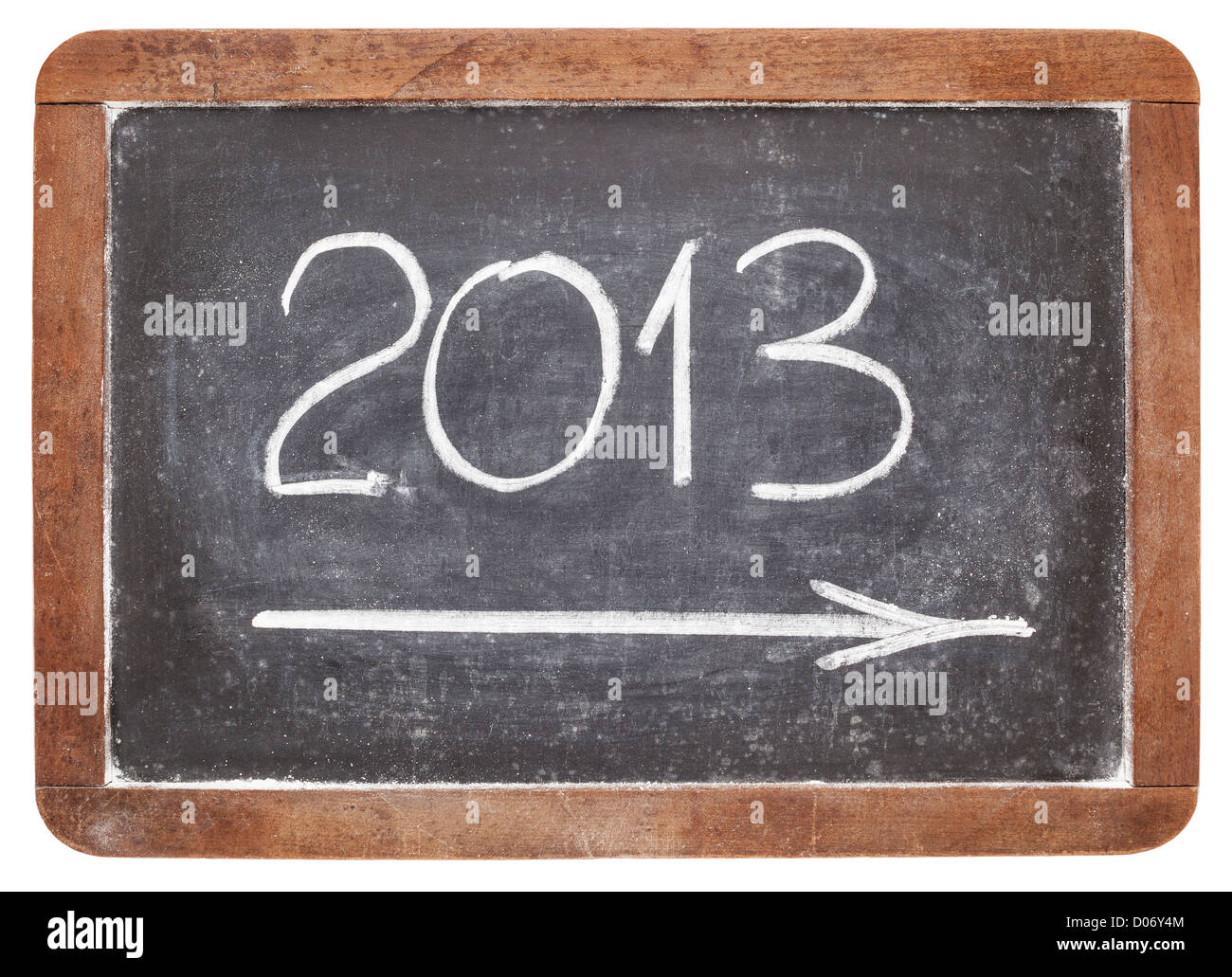 incoming 2013 year - white chalk on vintage slate blackboard - Stock Image