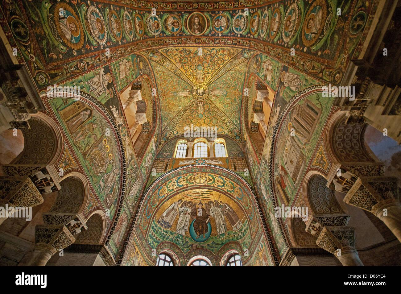 Mosaics inside the Church of San Vitale Ravenna Italy