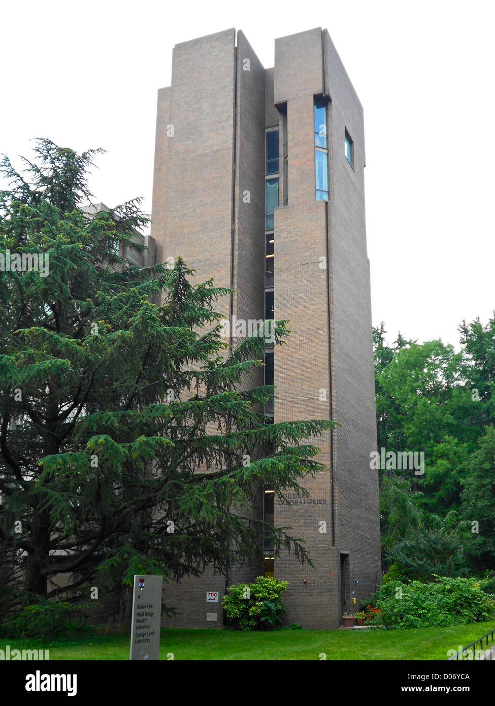 Tower of the Goddard Labs (attached to the Richards Labs) on the NRHP in Philadelphia, U Penn campus - Stock Image