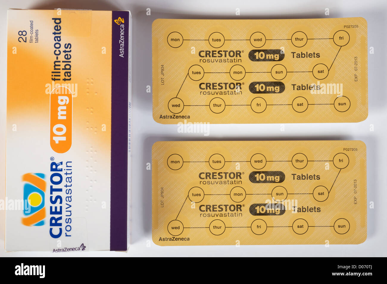 Rosuvastatin (marketed by AstraZeneca as Crestor) - Stock Image