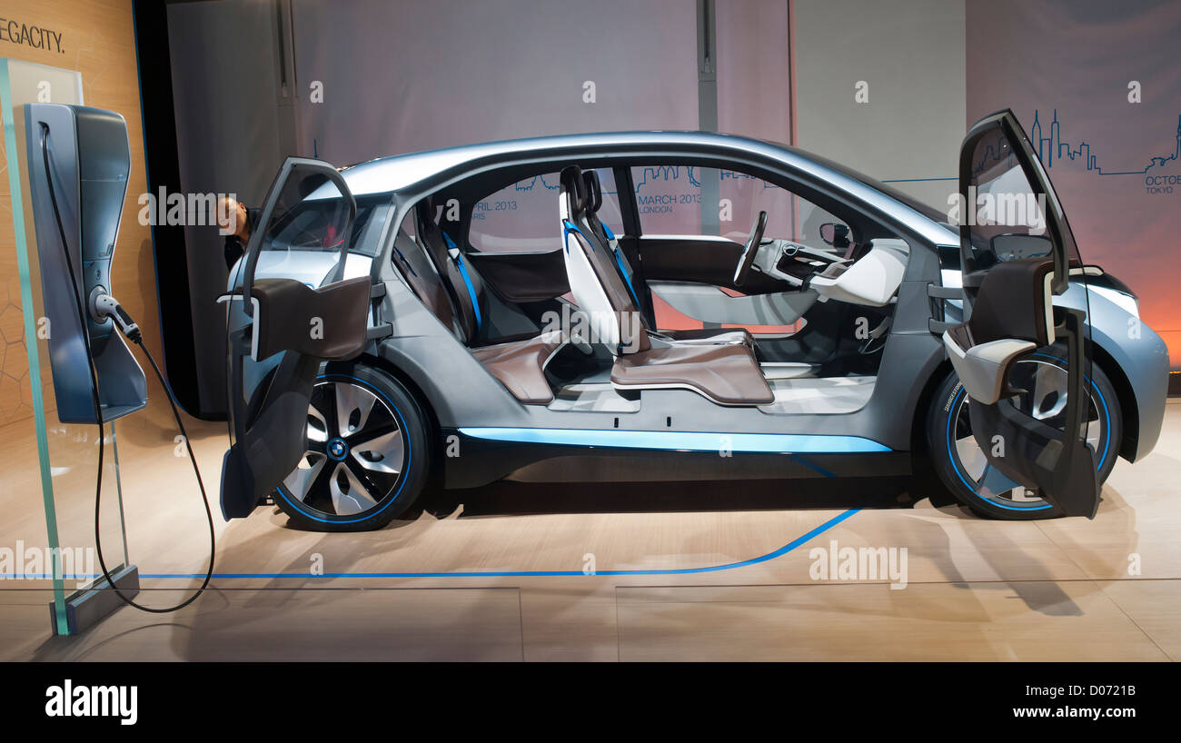 BMW displays its electric concept cars at a Born Electric Tour promotion in New York - Stock Image
