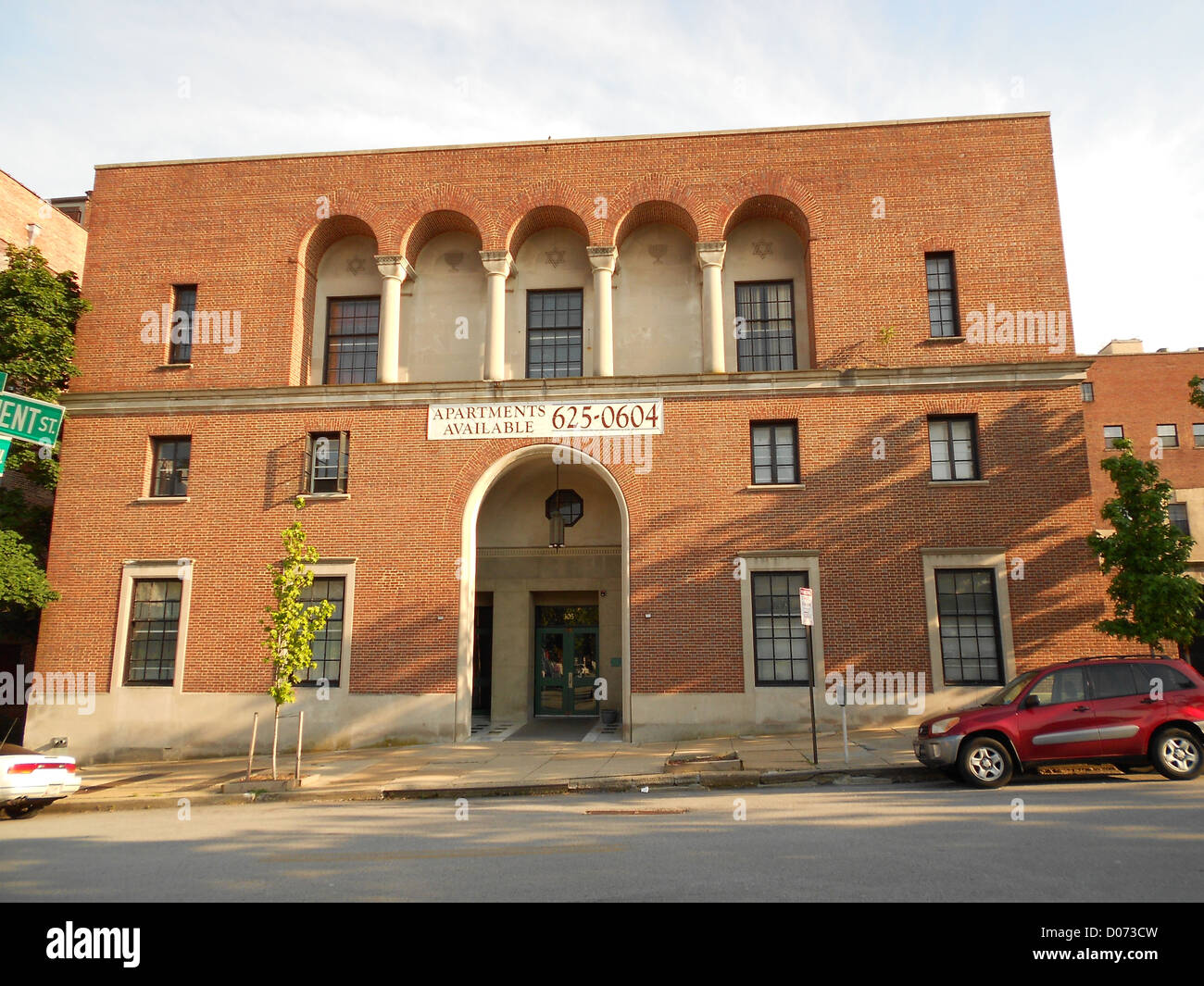 Young Men's and Women's Hebrew Association in Baltimore. On the NRHP - Stock Image