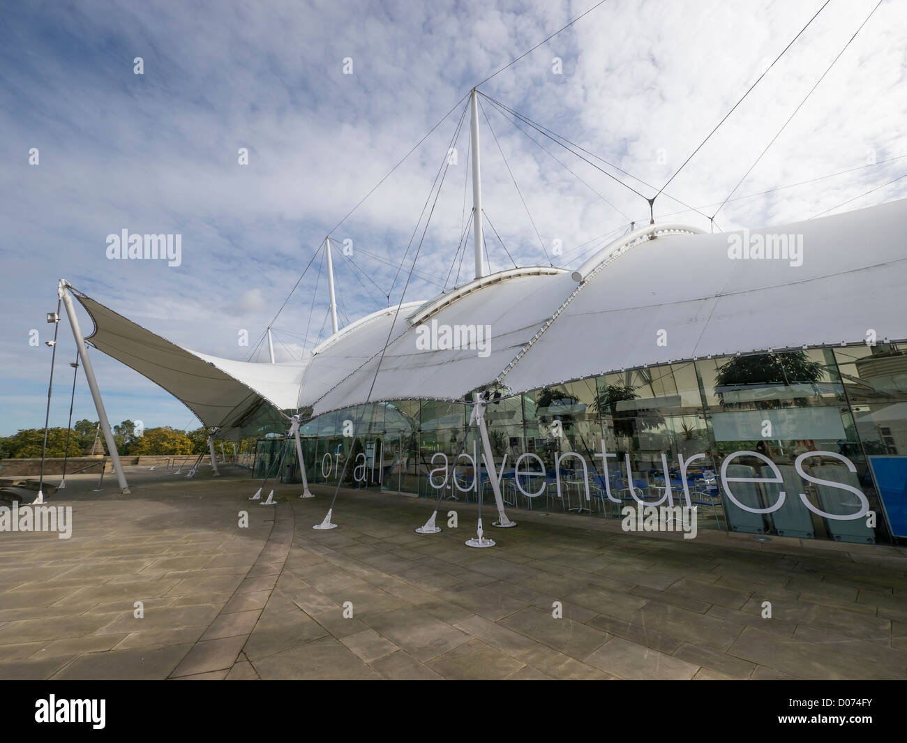 The 'Our Dynamic Earth' visitor attraction, in Edinburgh, Scotland. The centre has a display on geology - Stock Image