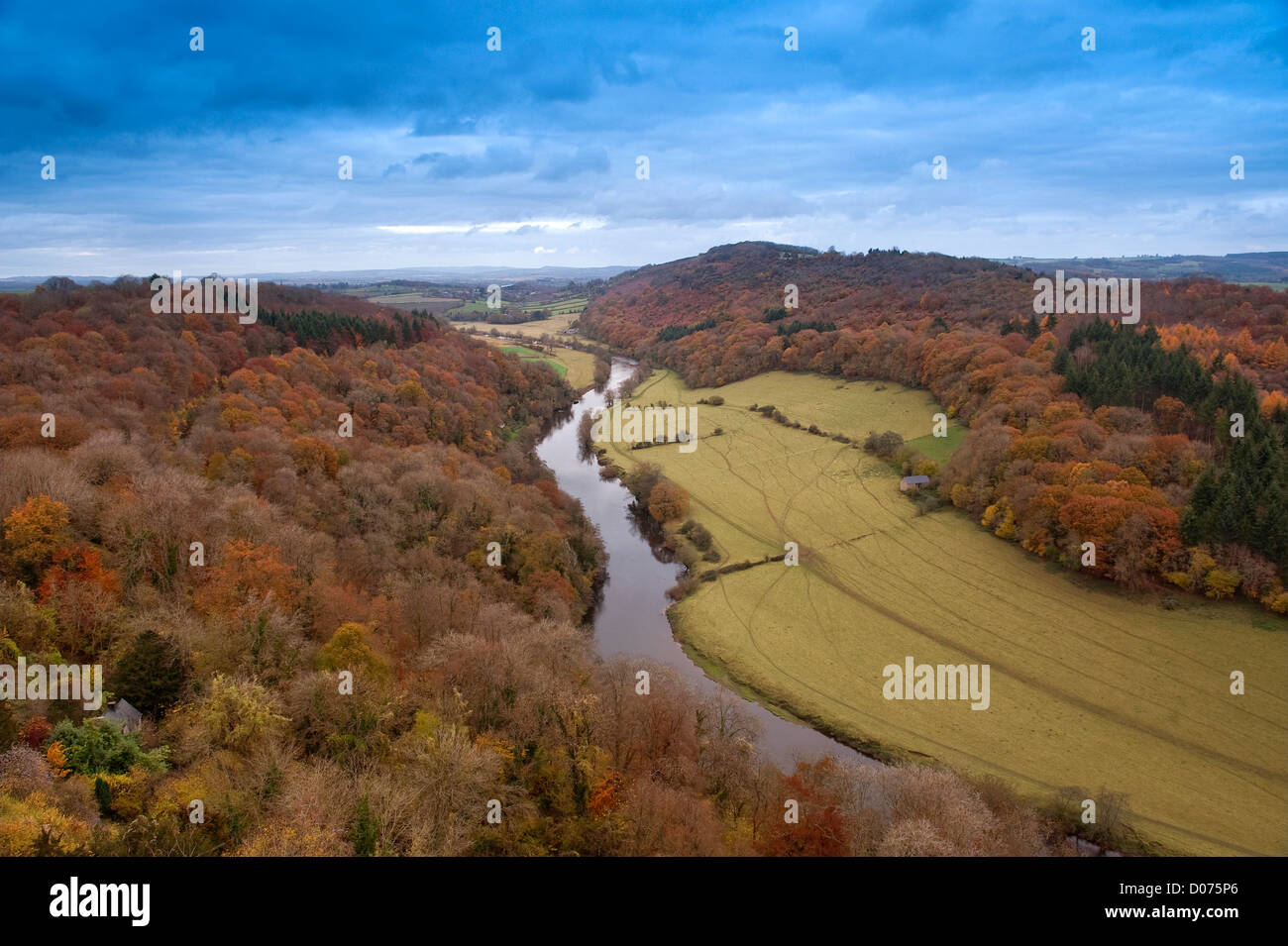 symonds yat, forest of dean, river wye, england - Stock Image