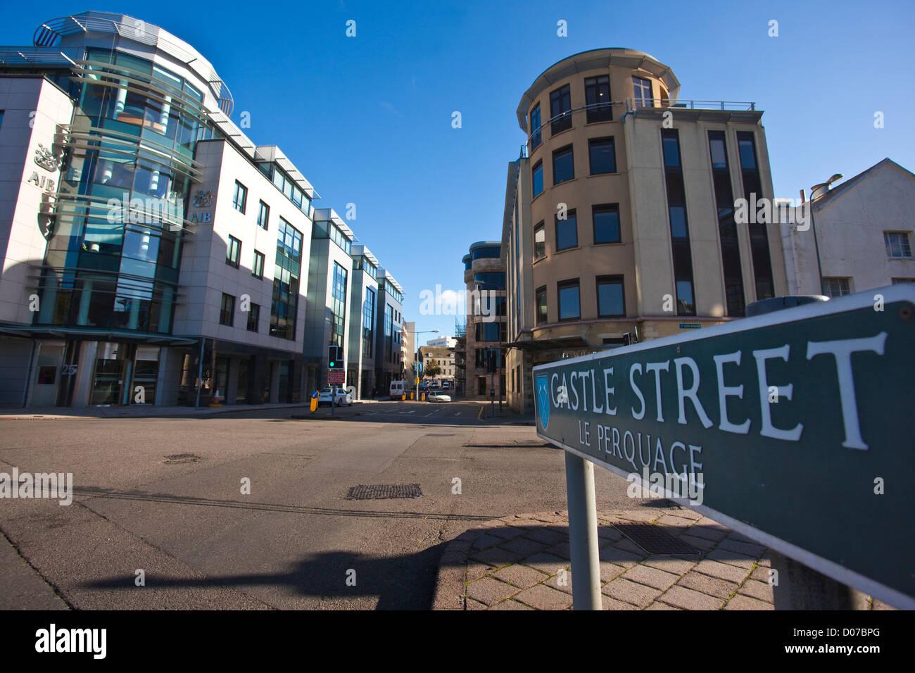 Castle Street, St Helier, Jersey - Stock Image