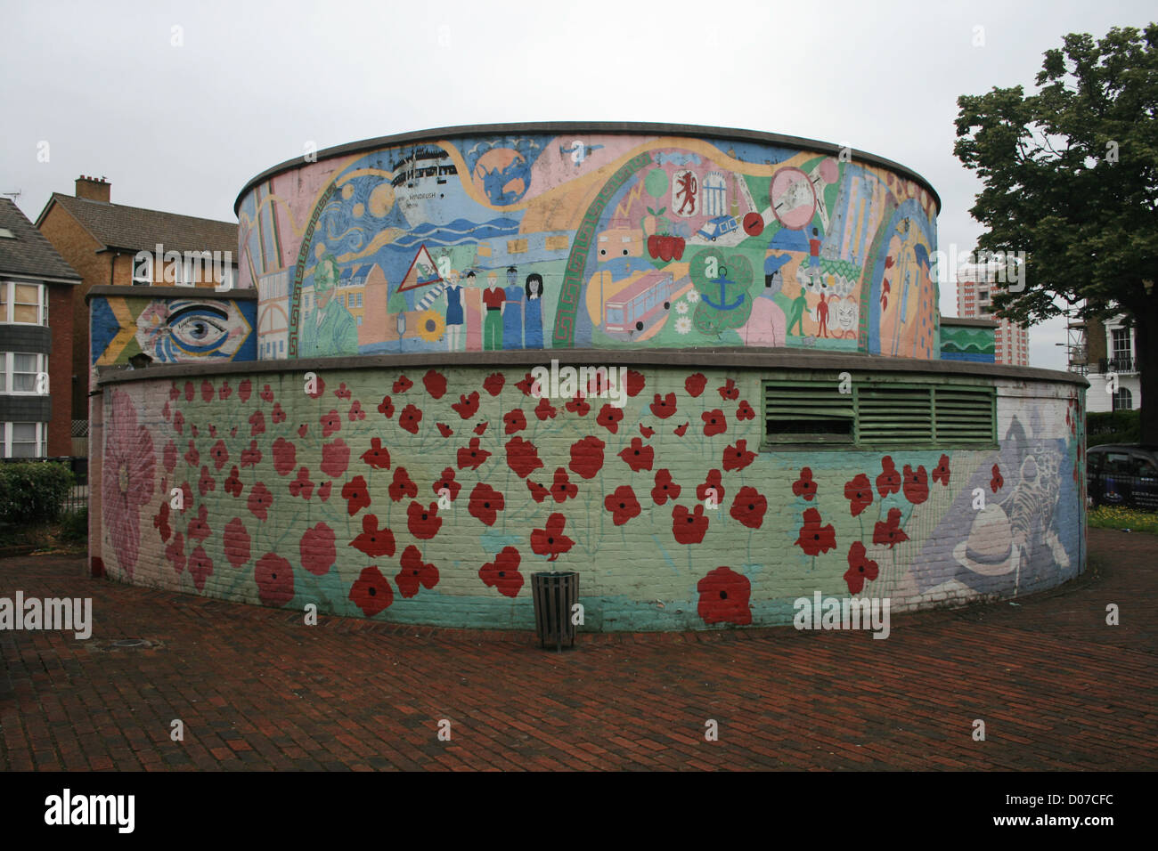 Stockwell Mural - Stock Image
