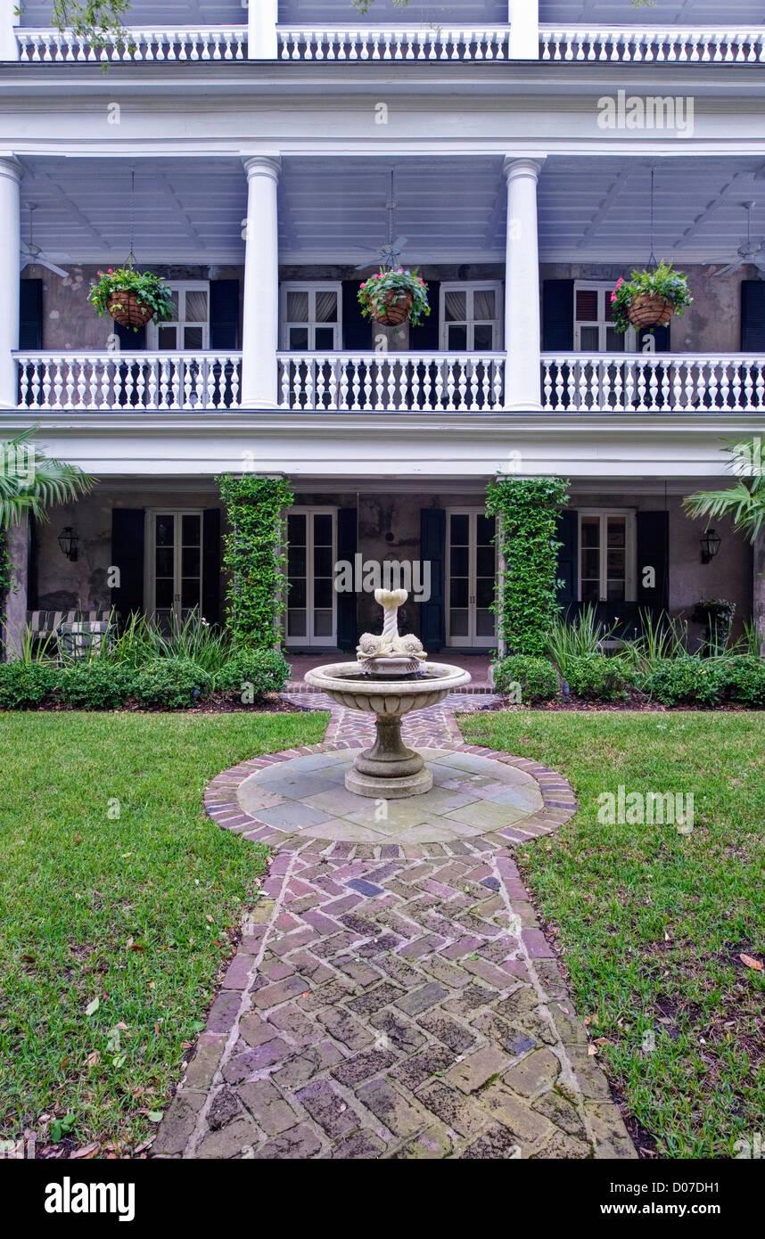 USA, SC, Charleston, Historic District, Antebellum House And Garden