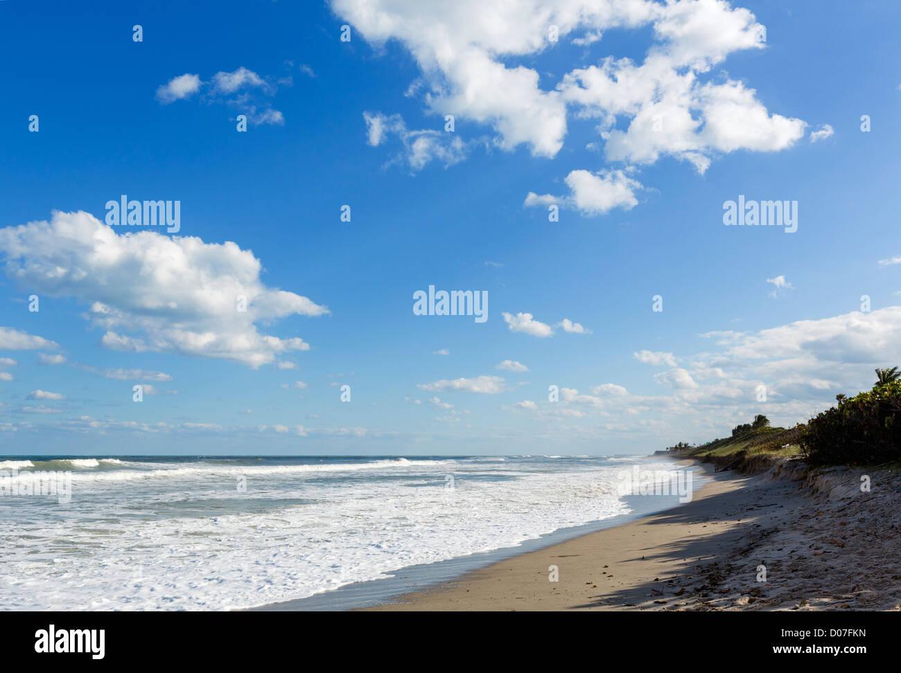 Beach in Jupiter, Treasure Coast, Florida, USA - Stock Image