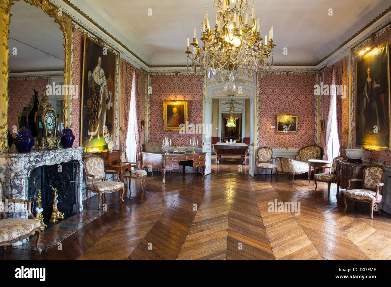 the great salon chateau de maintenon eure et loir 28 france stock photo 51797102 alamy. Black Bedroom Furniture Sets. Home Design Ideas