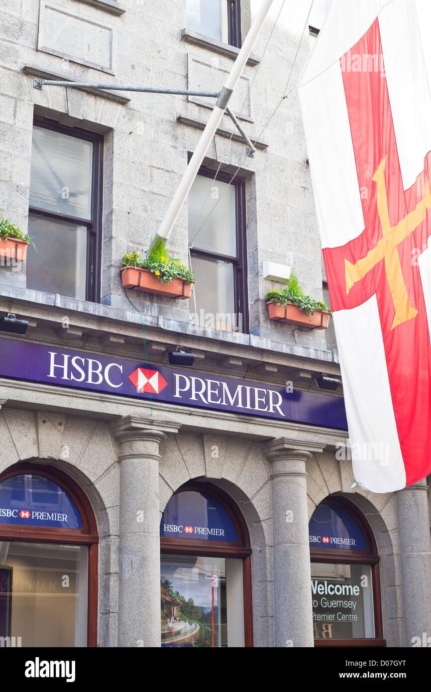 HSBC Premier Bank in St Peter Port, Guernsey, November 2012