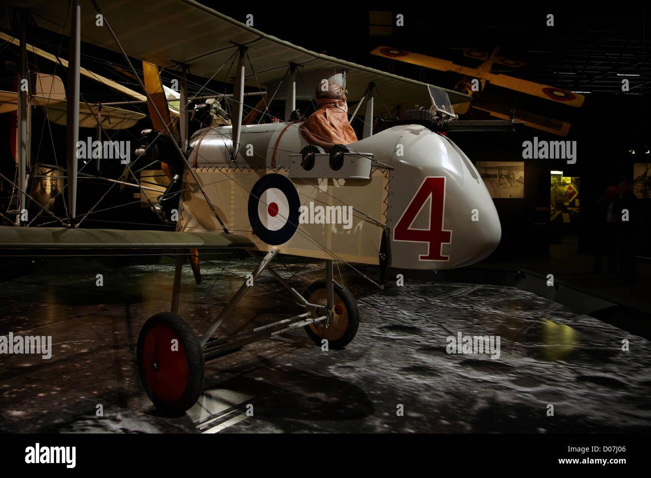 Airco DH-2 biplane, Omaka Aviation Heritage Centre, Blenheim, Marlborough, South Island, New Zealand - Stock Image
