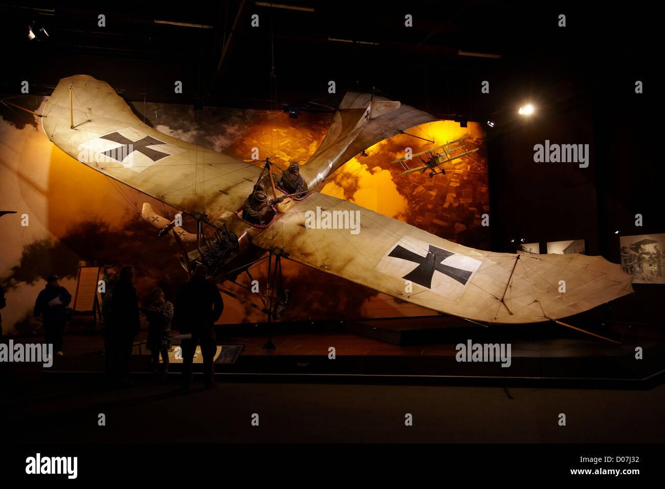Etrich Taube monoplane, Omaka Aviation Heritage Centre, Blenheim, Marlborough, South Island, New Zealand - Stock Image