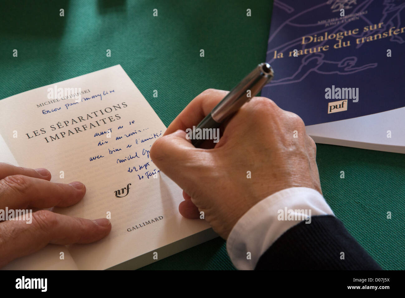 DEDICATION BY THE AUTHORS BOOK FESTIVAL DOMAINE DE SAINT-SIMON LA FERTE-VIDAME EURE-ET-LOIR (28) FRANCE - Stock Image