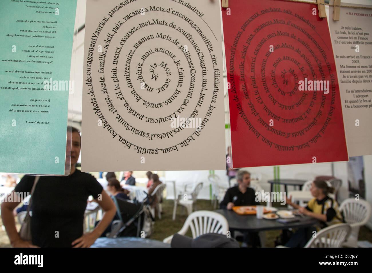 POETRY READING BOOK FESTIVAL DOMAINE DE SAINT-SIMON LA FERTE-VIDAME EURE-ET-LOIR (28) FRANCE - Stock Image