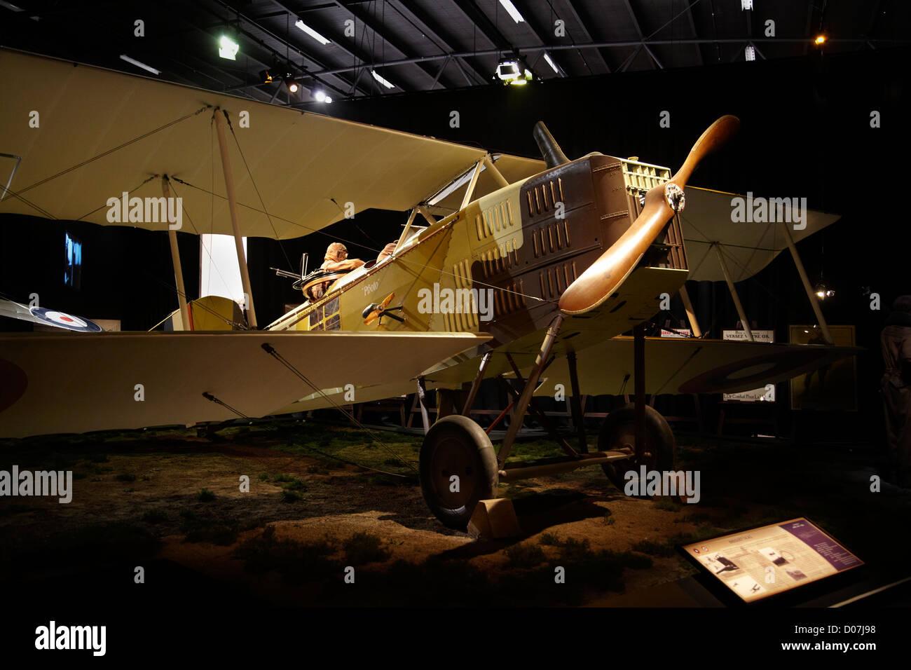 Breguet 14 A2 biplane, Omaka Aviation Heritage Centre, Blenheim, Marlborough, South Island, New Zealand - Stock Image