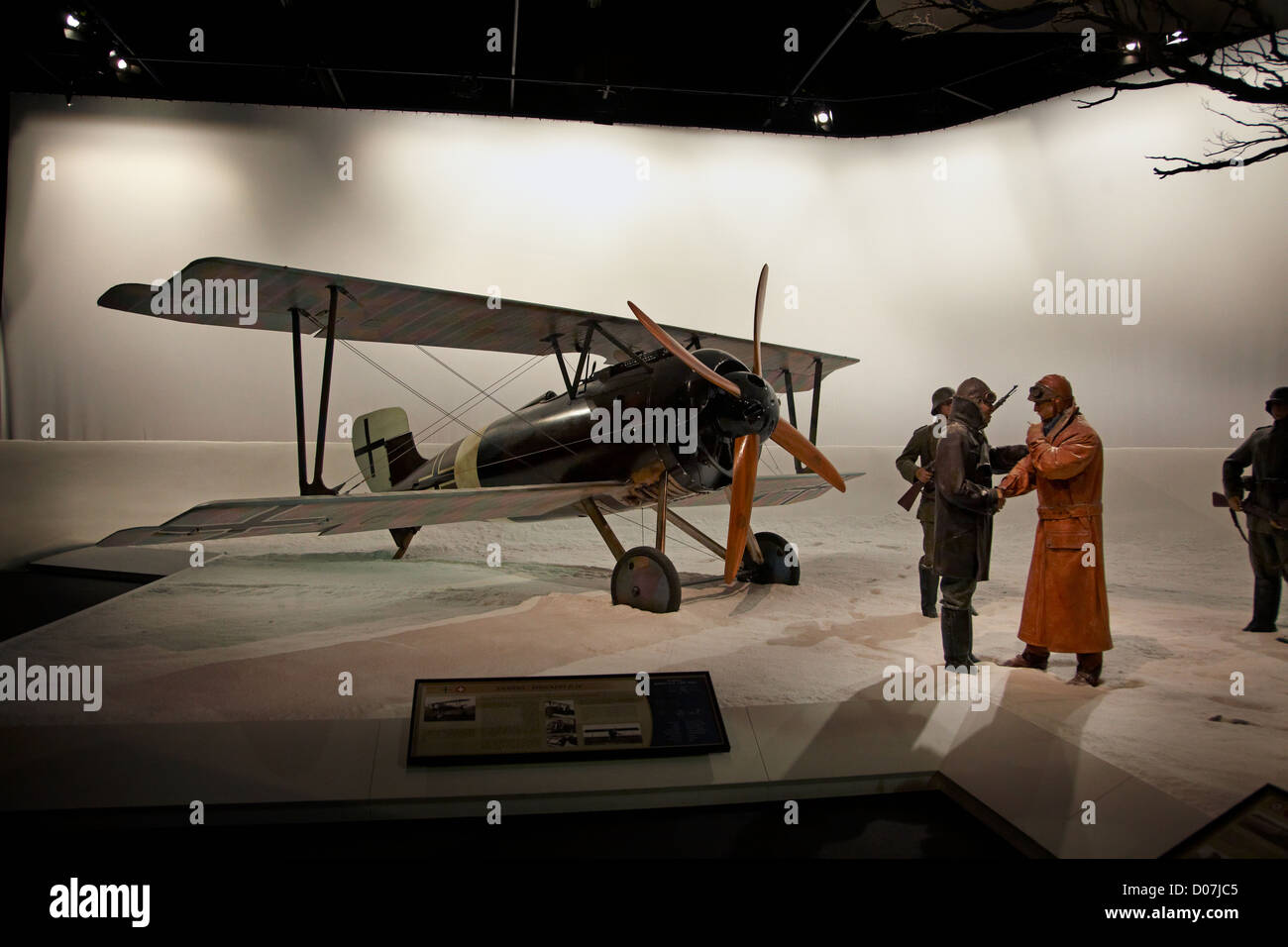 German Siemens Schukert D.IV biplane, Omaka Aviation Heritage Centre, Blenheim, Marlborough, South Island, New Zealand - Stock Image