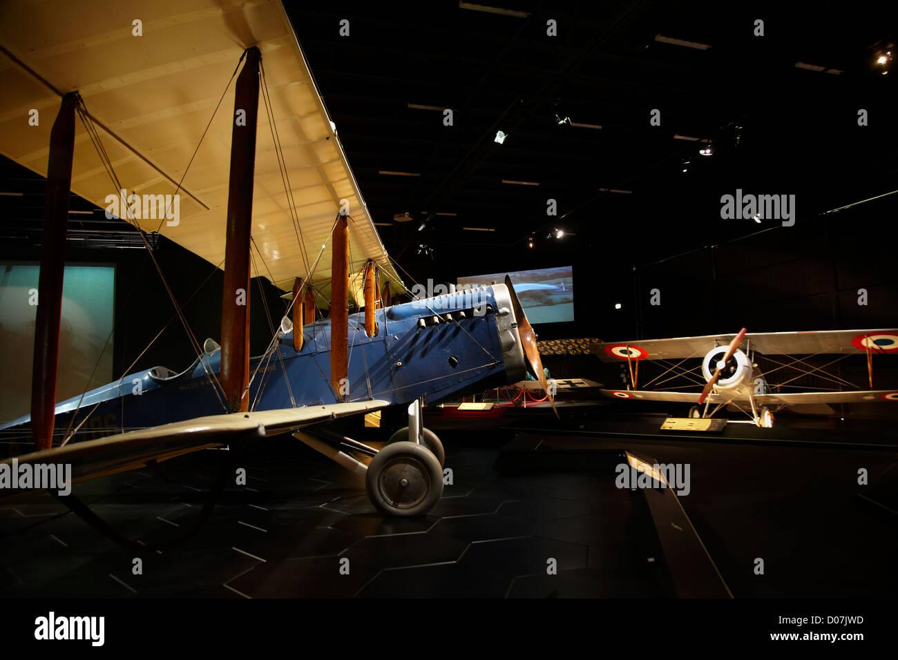 De Havilland D.H.4 biplane, Omaka Aviation Heritage Centre, Blenheim, Marlborough, South Island, New Zealand - Stock Image