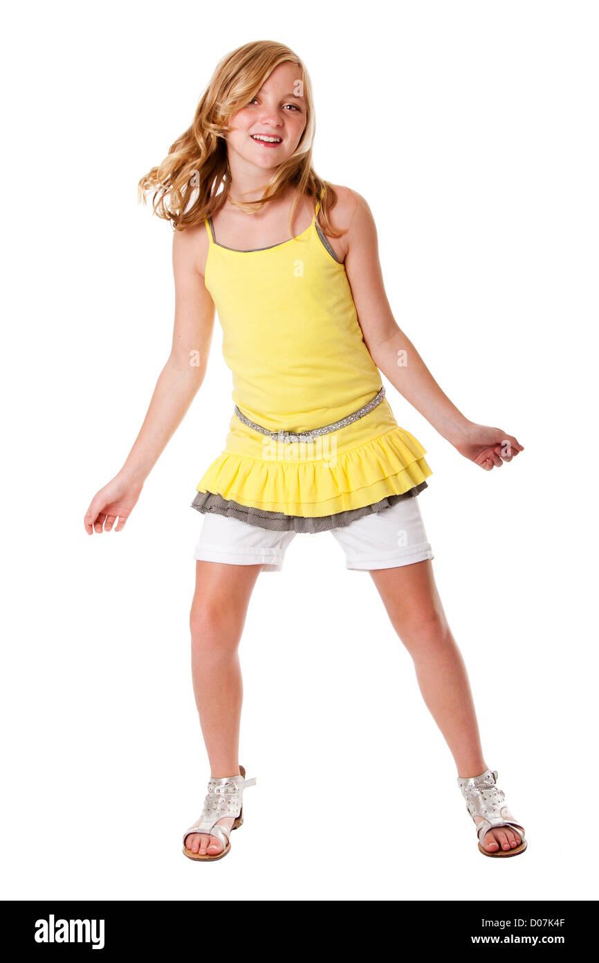 blonde teen but dancing