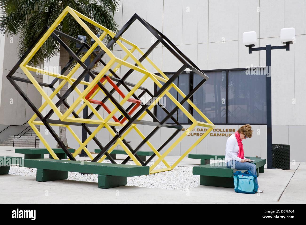 Wolfson Campus, Miami Dade College, Miami, Florida, USA - Stock Image