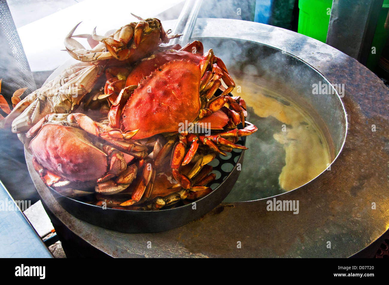 steamed crabs - Stock Image
