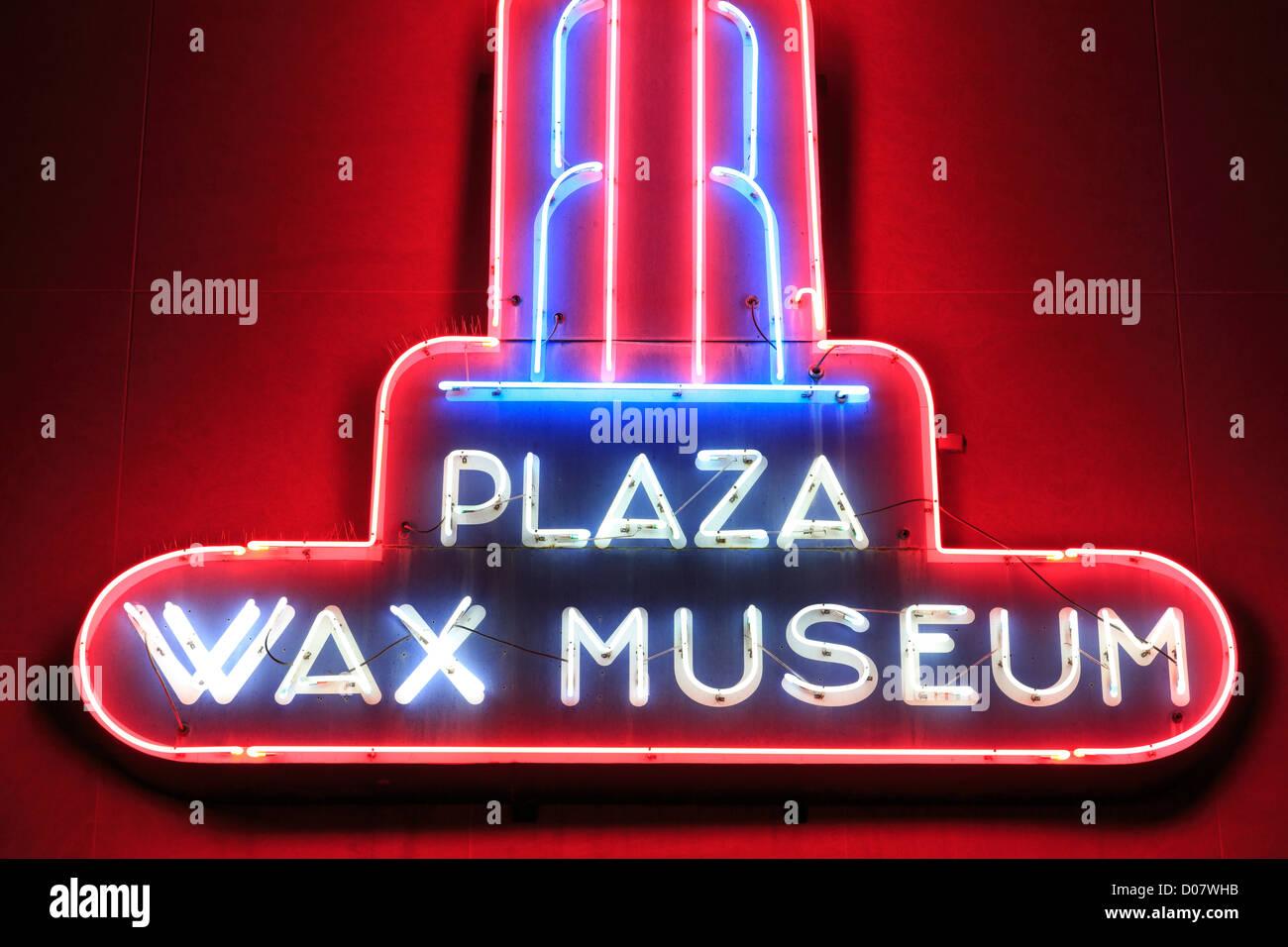 Plaza Wax Museum,Alamo Plaza,San Antonio,Texas,USA - Stock Image