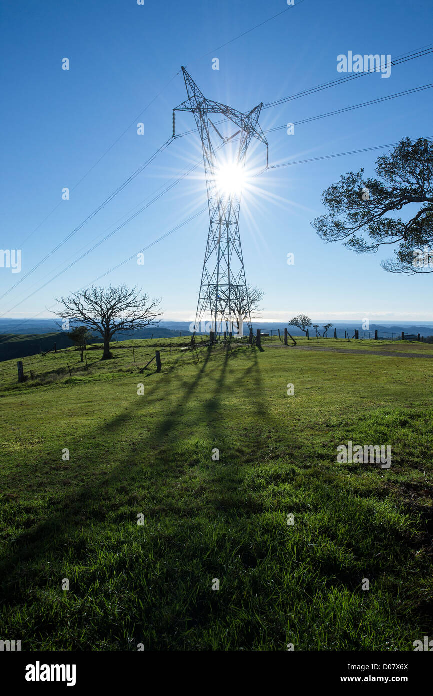 High voltage electricity pylons - Stock Image