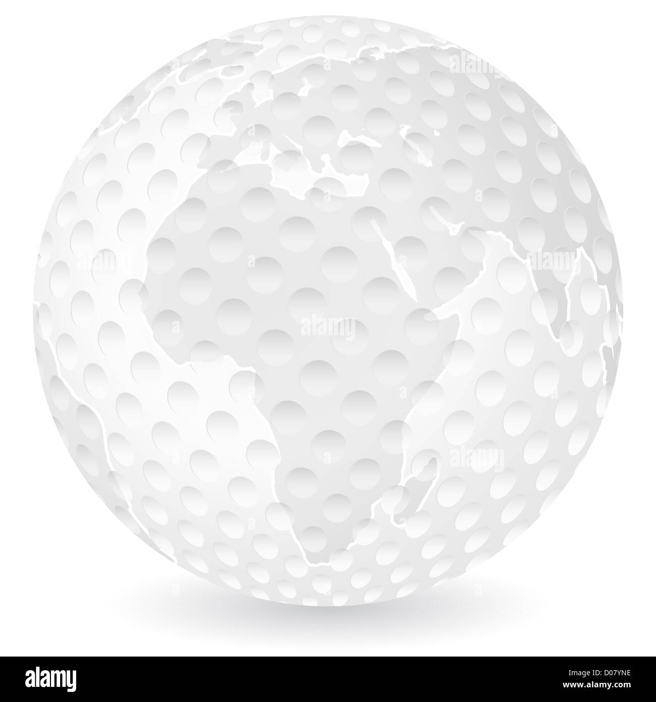 World map golf ball on a white background vector illustration stock world map golf ball on a white background vector illustration gumiabroncs Images