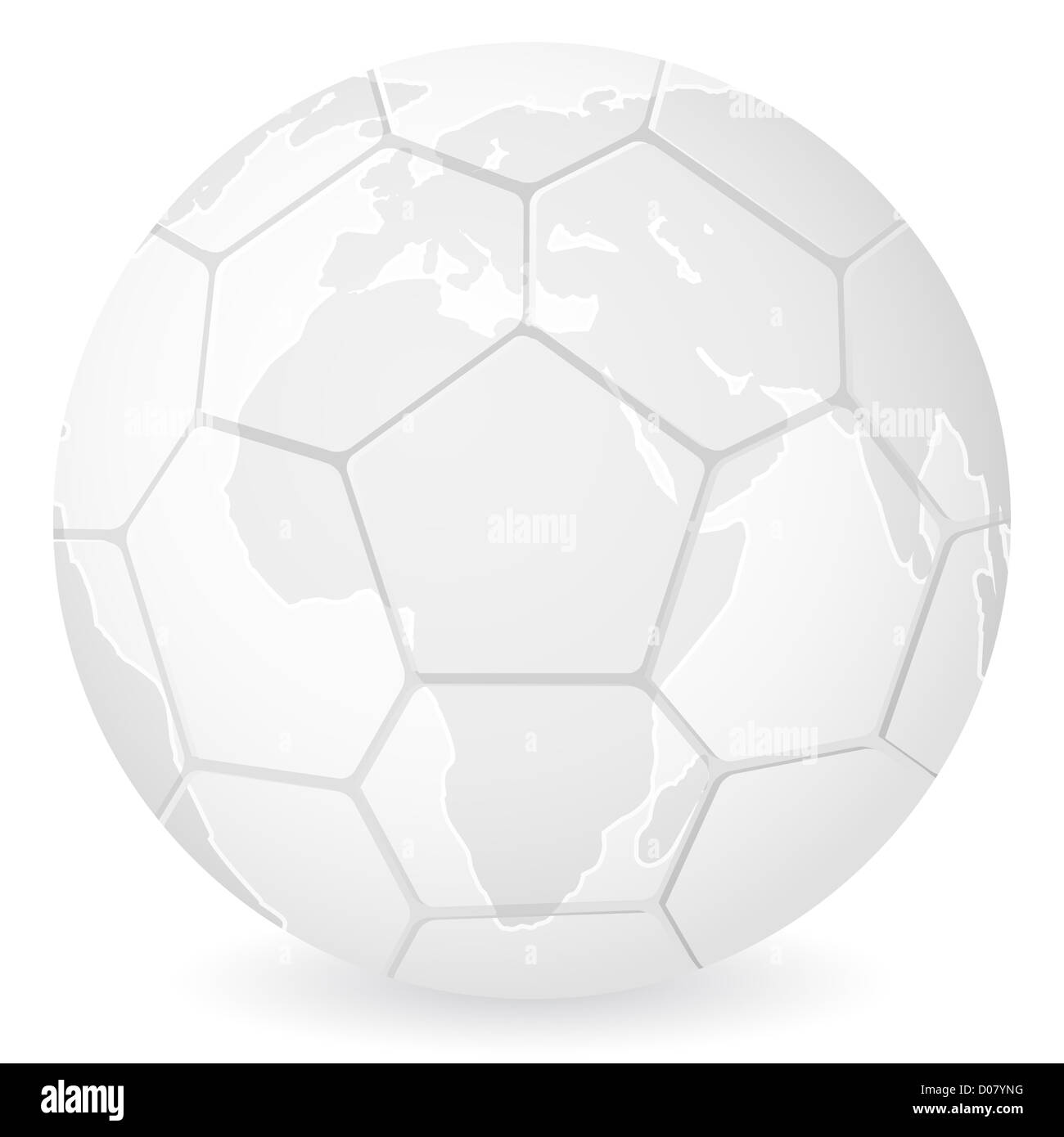 World map soccer ball on a white background vector illustration world map soccer ball on a white background vector illustration gumiabroncs Gallery