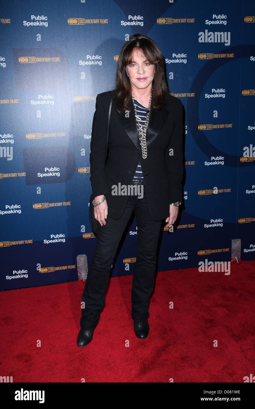 Stockard Channing at a screening of 'Public Speaking' held at The Museum of Modern Art New York City, USA - Stock Image