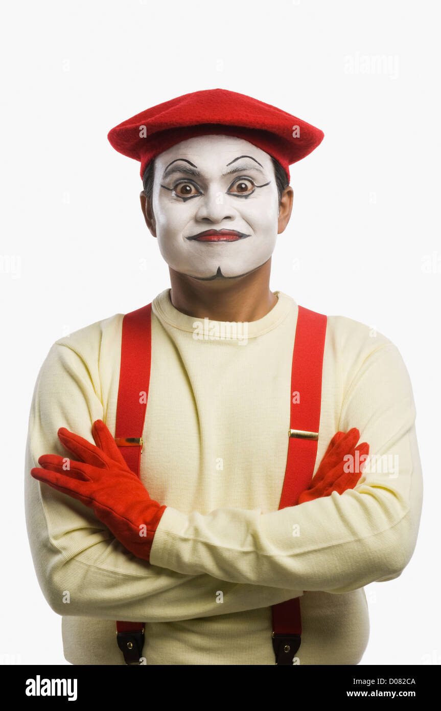 Portrait of a mime - Stock Image